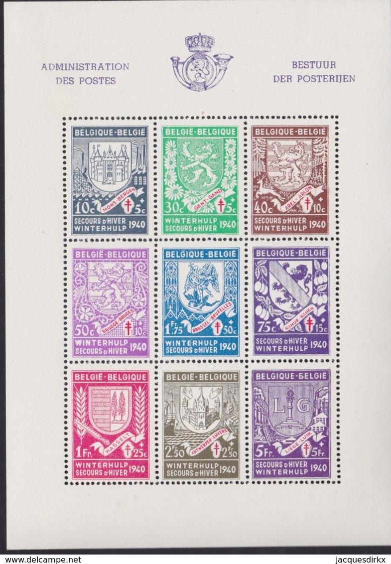 Belgie .    OBP   .   Blok  10   (zegels: **)  .      *      .      Ongebruikt  .   /    .    Neuf Avec Charniere - Blocks & Sheetlets 1924-1960