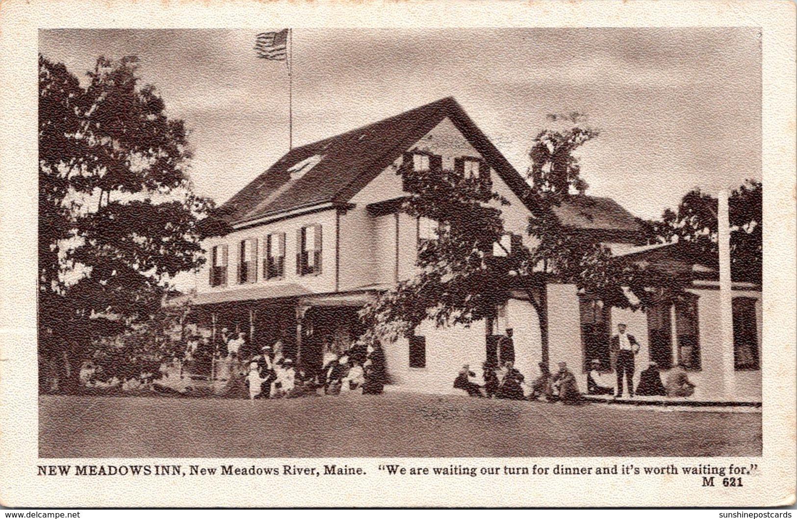 Maine New Meadows River New Meadows Inn Restaurant 1912
