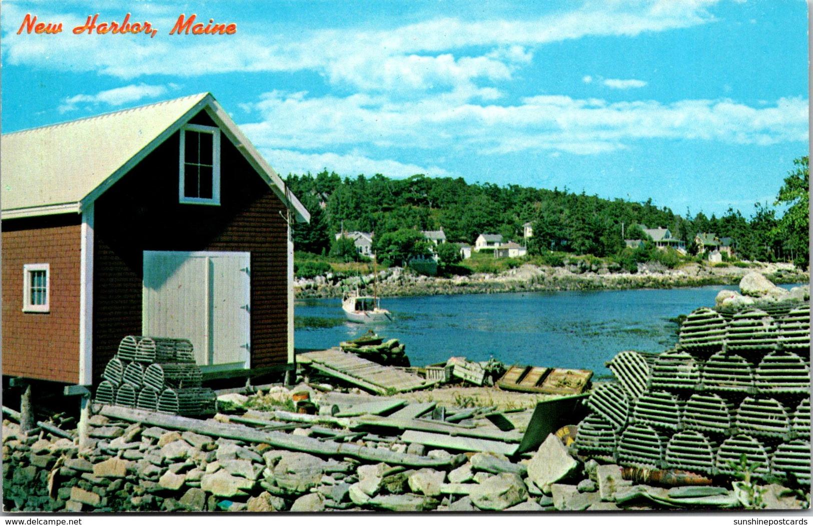 Maine New Harbor View Of Quaint Back Cove