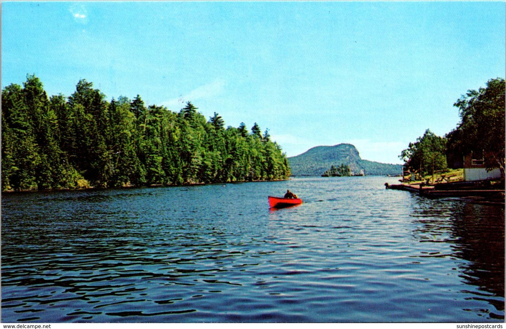 Maine Mooshead Lake With Mt Kineo In Background