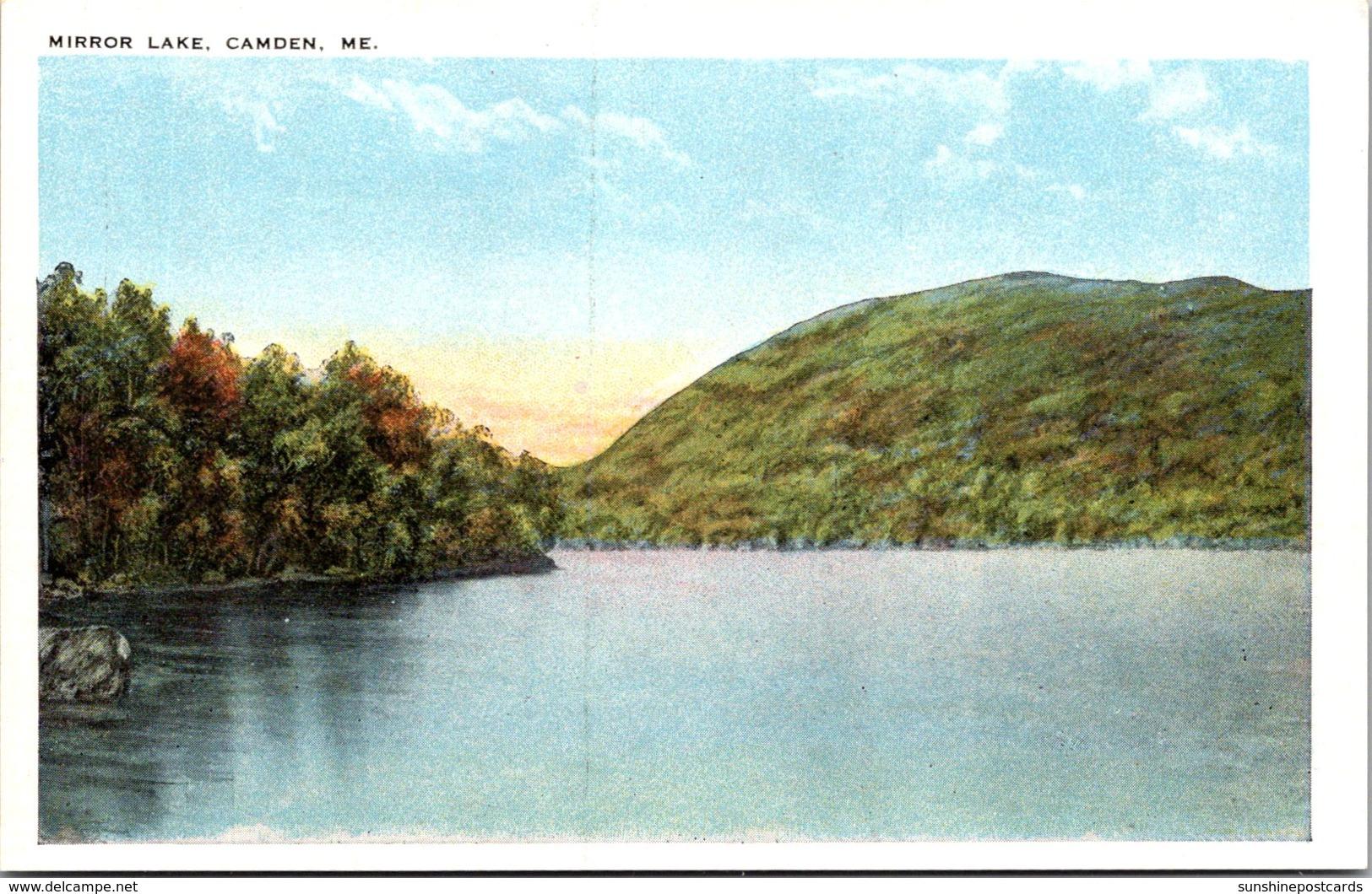 Maine Camden View Of Mirror Lake