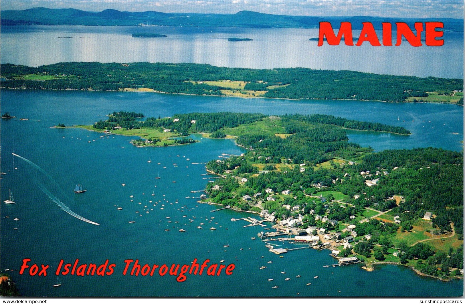 Maine Aerial View Fox Islands Thoroughfare