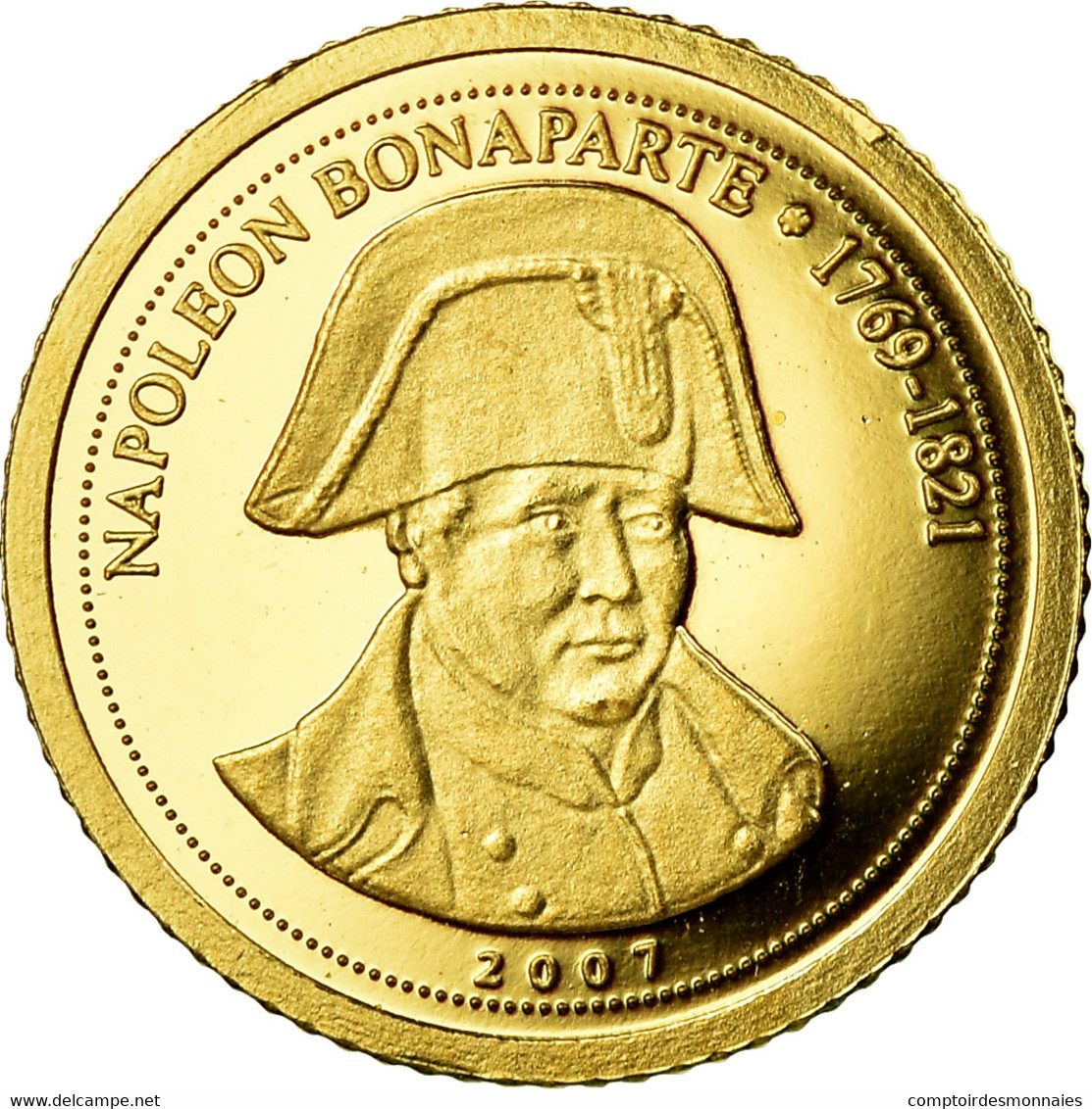 Monnaie, CONGO, DEMOCRATIC REPUBLIC, Napoléon Bonaparte, 1500 Francs CFA, 2007 - Congo (République Démocratique 1998)