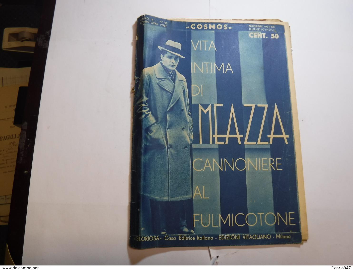 SPORT   CALCIO  ---  MILANO  ---  RIVISTA COSMOS    ANNO IX  -- N° 66   -- NOVEMBRE   1934 - Sport