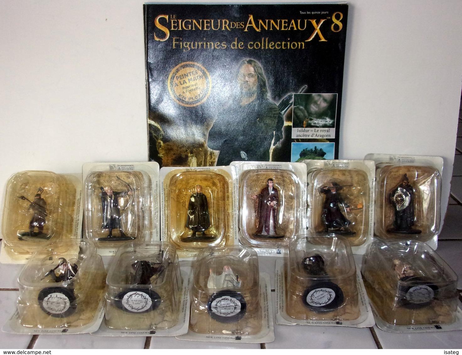 """Lot De 11 Figurines """"Seigneur Des Anneaux"""" Eaglemoss - Le Seigneur Des Anneaux"""