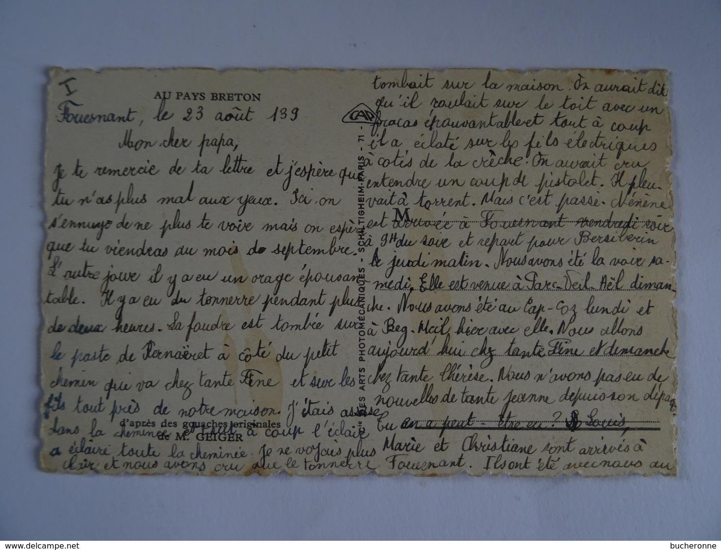 CPA  INTERIEUR BRETON D'après Des Gouaches Originales De M. GEIGER  TBE - Bretagne