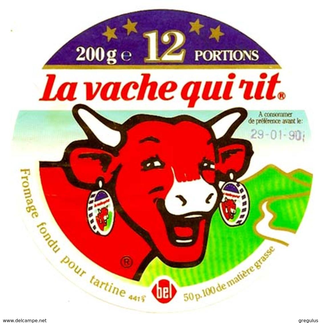 Etiquette  La Vache  Qui Rit  Occasion  100mm  Année 1990 - Quesos