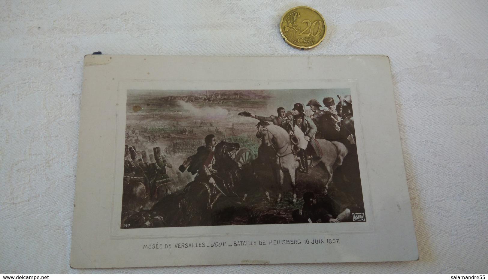 CPA Carte Napoléon Bataille De Heilsberg Jouy Guerremusée Versailles - Hommes Politiques & Militaires