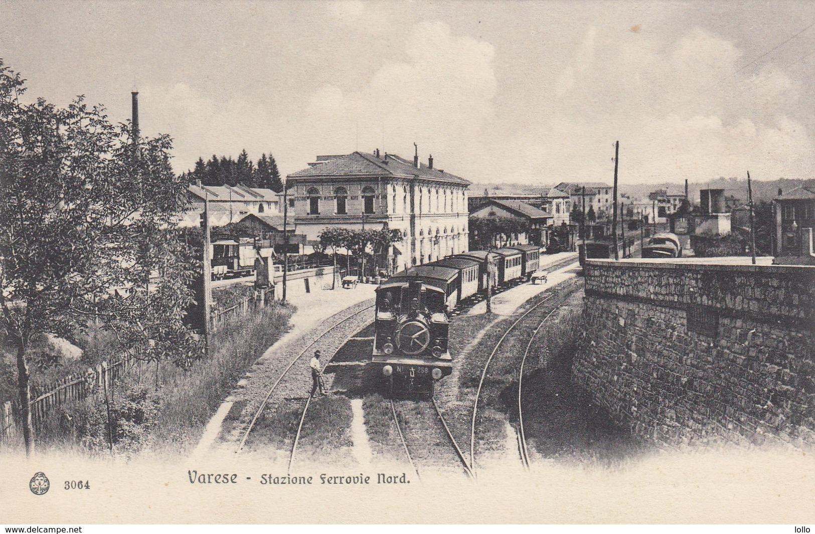 Lombardia - Varese -  Stazione Ferrovie Nord - F. Piccolo - Molto Bella Con Treno In PP - Varese