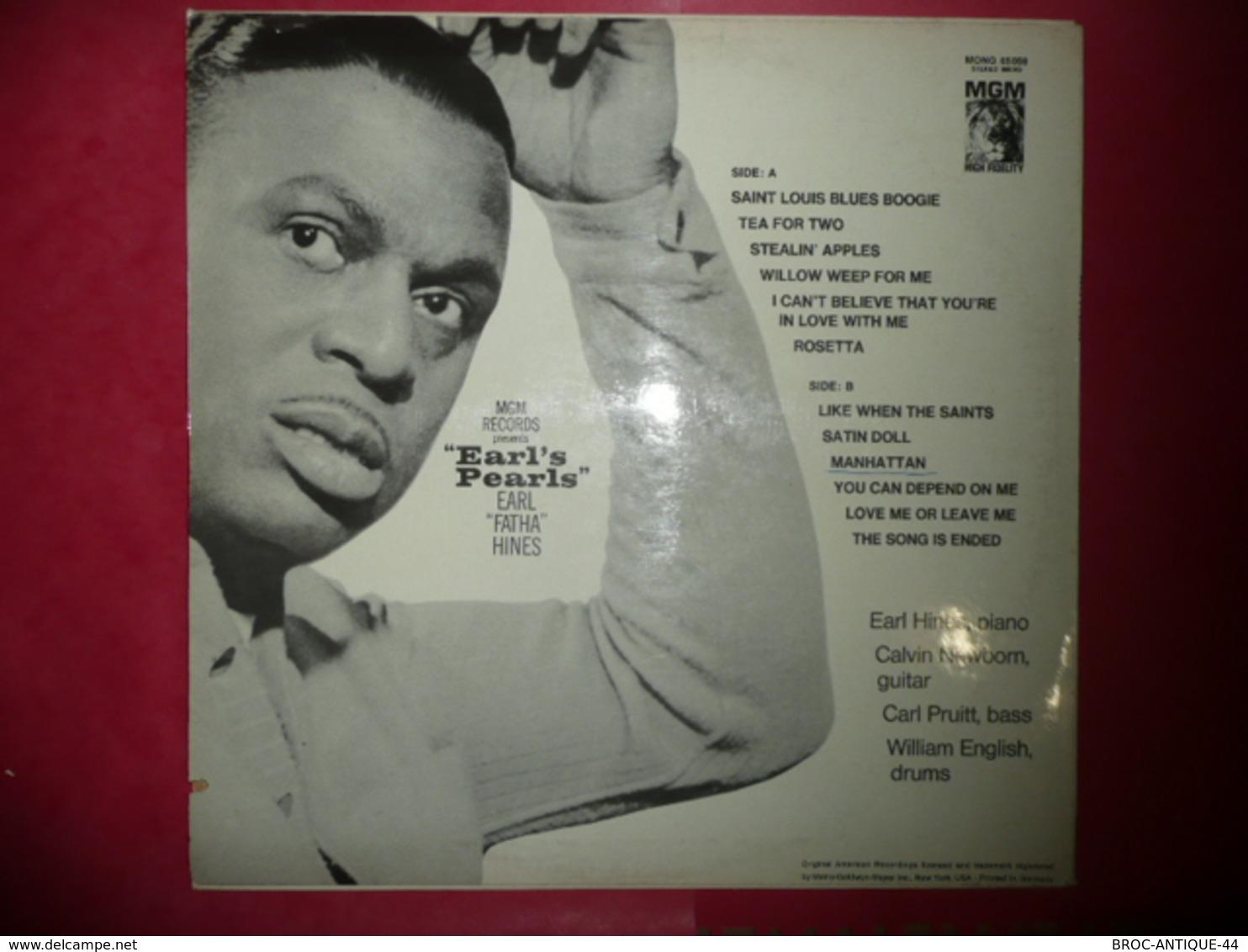 LP33 N°3463 - EARL HINES - 65 059 - DISQUE EPAIS MGM - Jazz