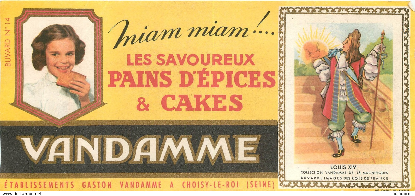 BUVARD VANDAMNE PAINS D'EPICES ET CAKES A CHOISY LE ROI - Gingerbread