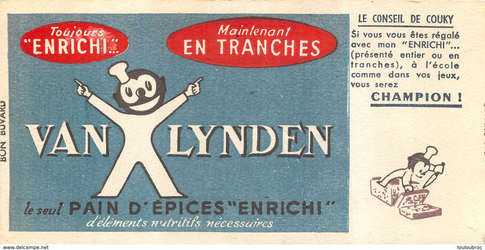BUVARD  PAIN D'EPICES VAN LYNDEN - Gingerbread