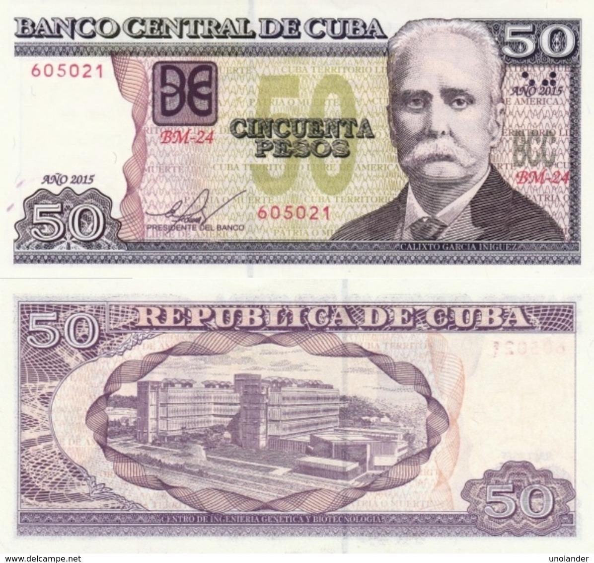 CUBA 50 Pesos P 123 J 2015 UNC - Kuba