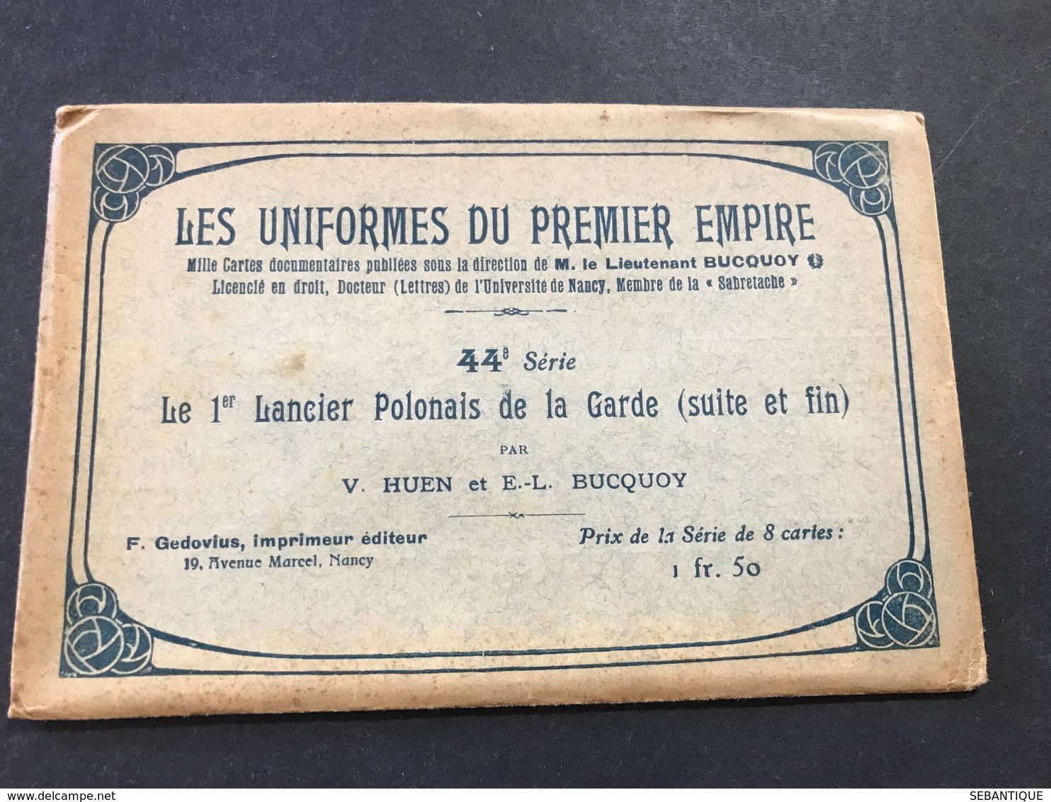 Pochette Seule Uniformes 1° Empire 44 ° Série Le 1 ° Lancier Polonais De La Garde Suite Par Gembarzewski - Uniformes