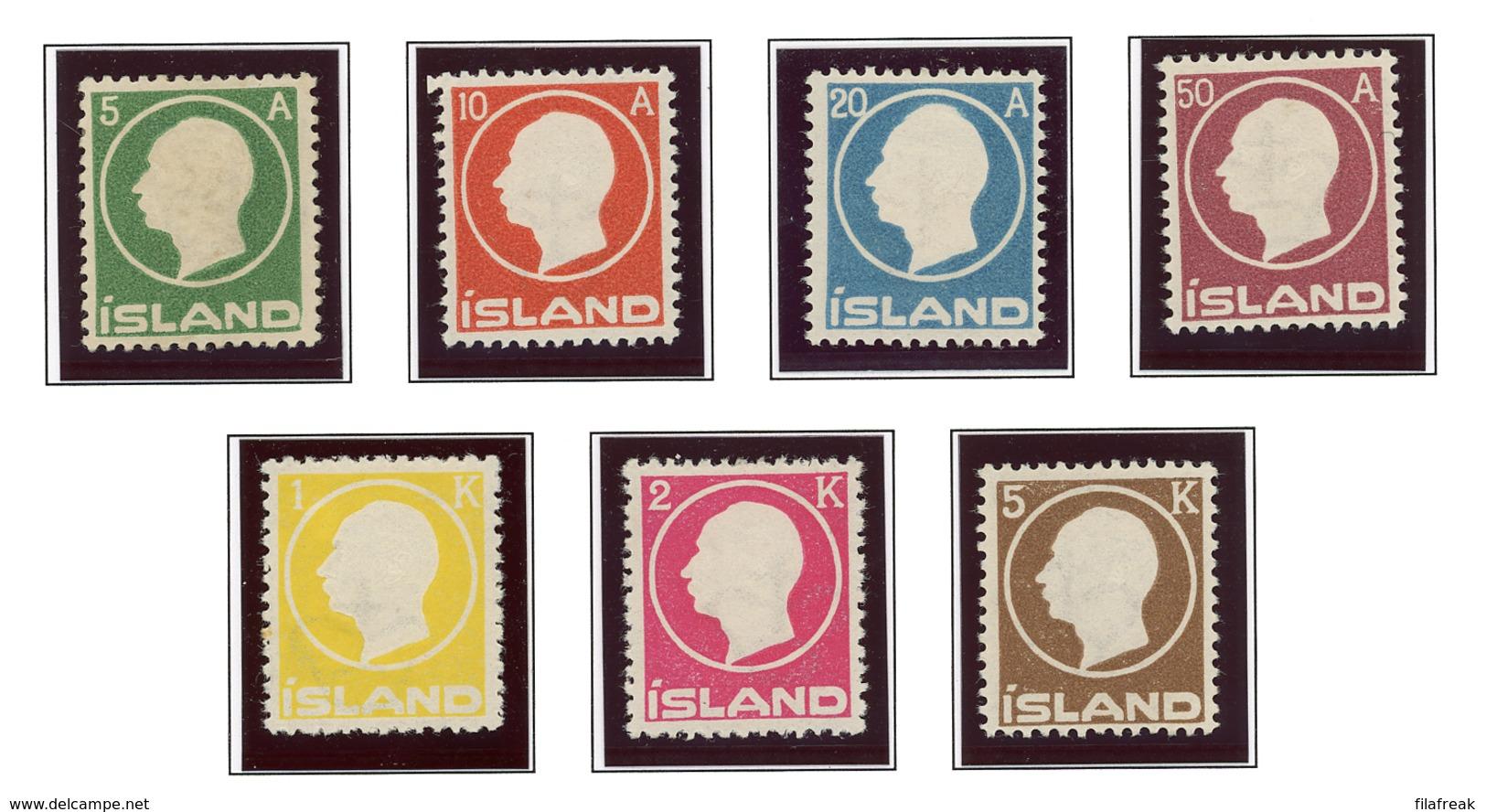 Ijsland / Iceland / Island Facit 114-120 MH - 1873-1918 Danish Dependence