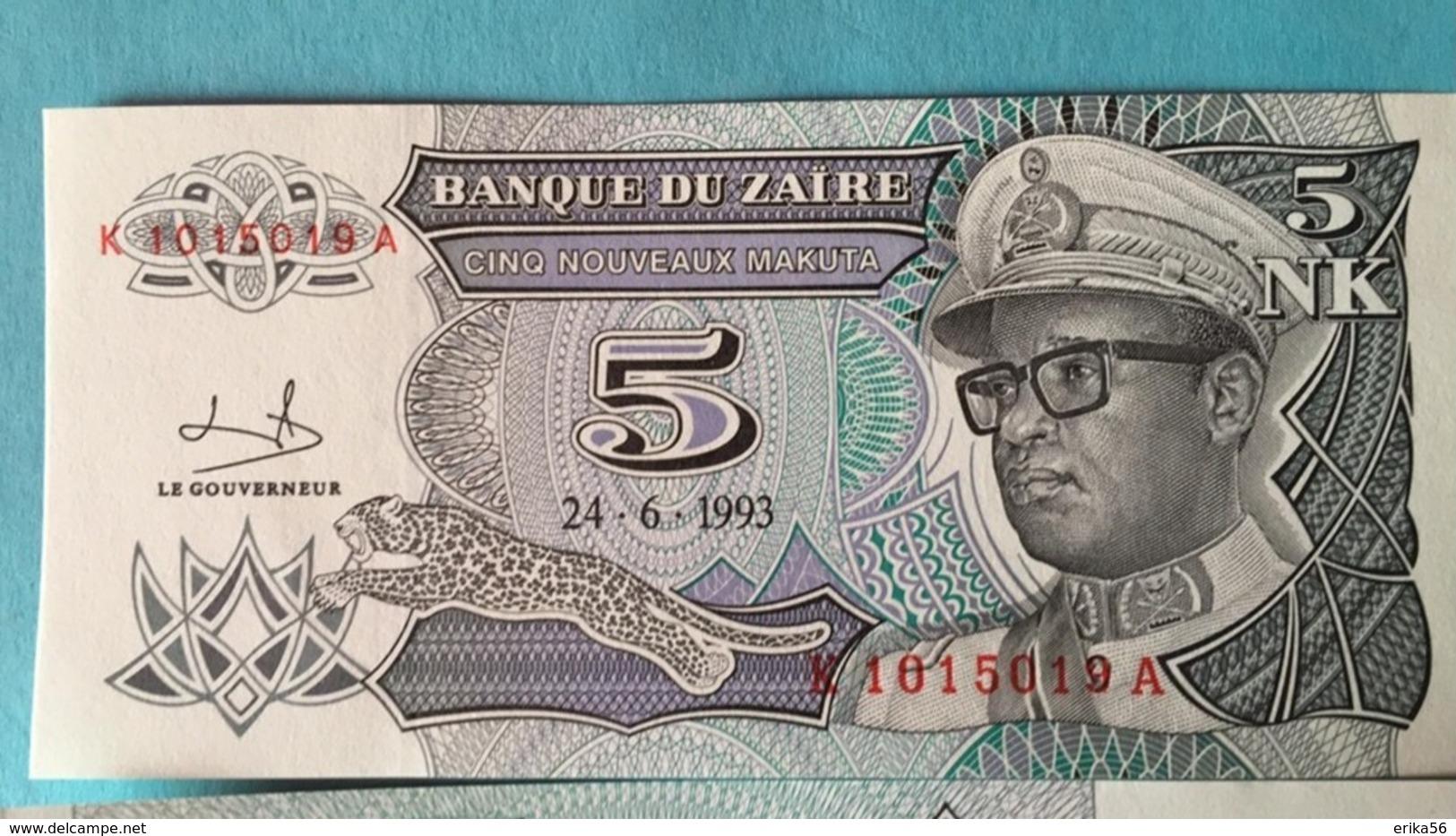 Pick 51 UNC ZAIRE 50 Nouveaux Makuta 1993