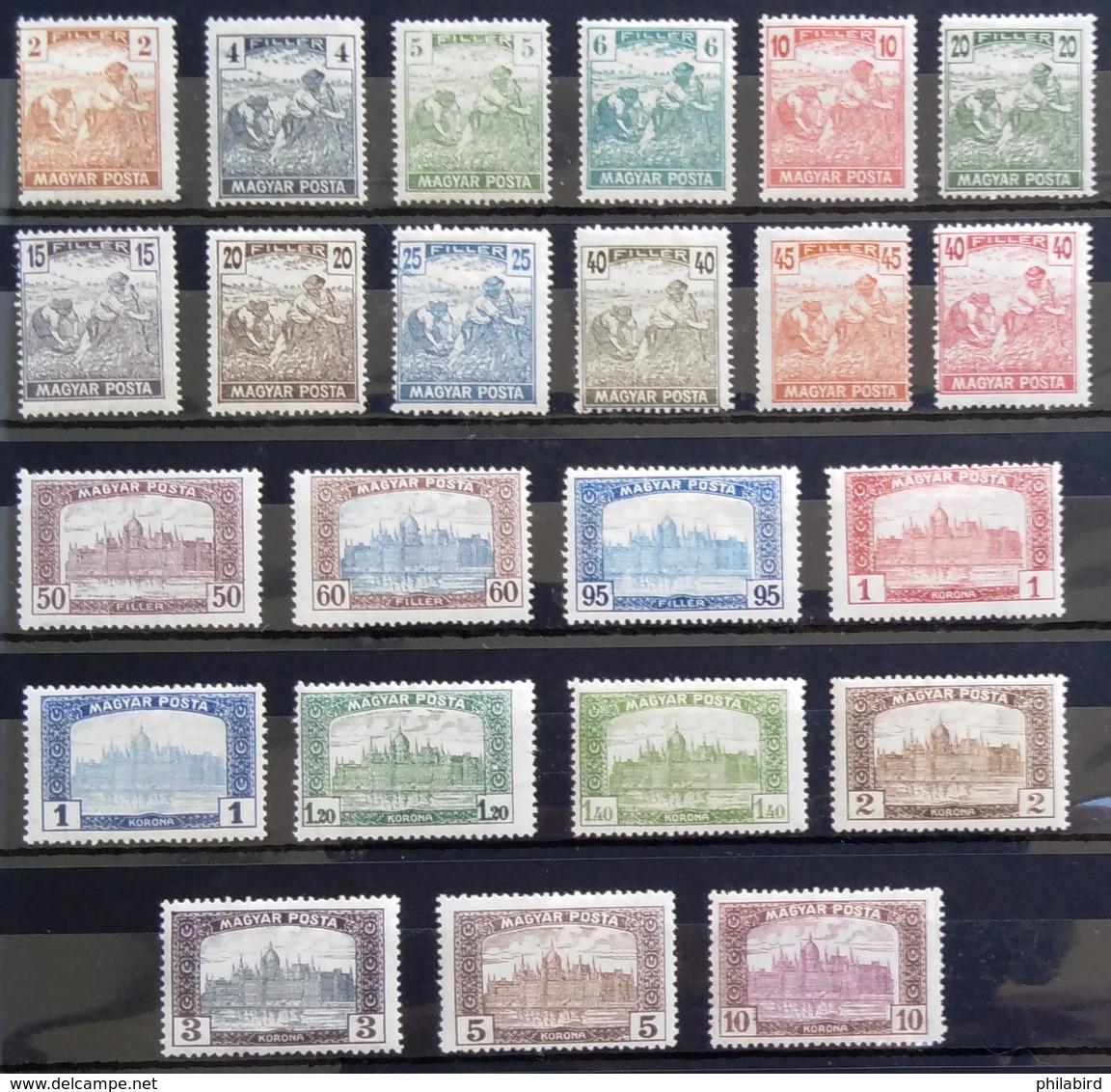 HONGRIE                      N° 217/239  (sauf 217A)                           NEUF* - Unused Stamps