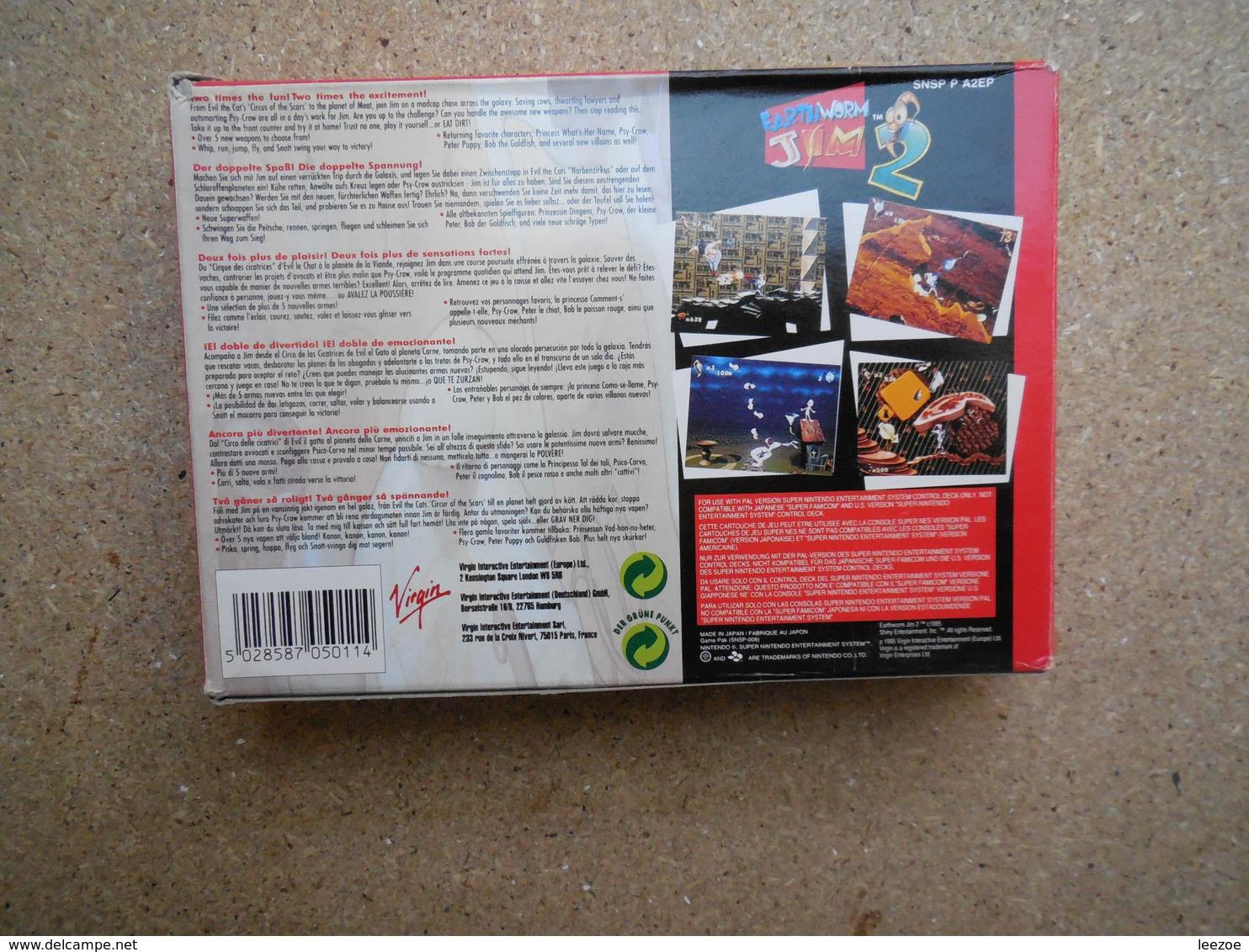 Earthworm Jim 2  SNES Super Nintendo - Autres
