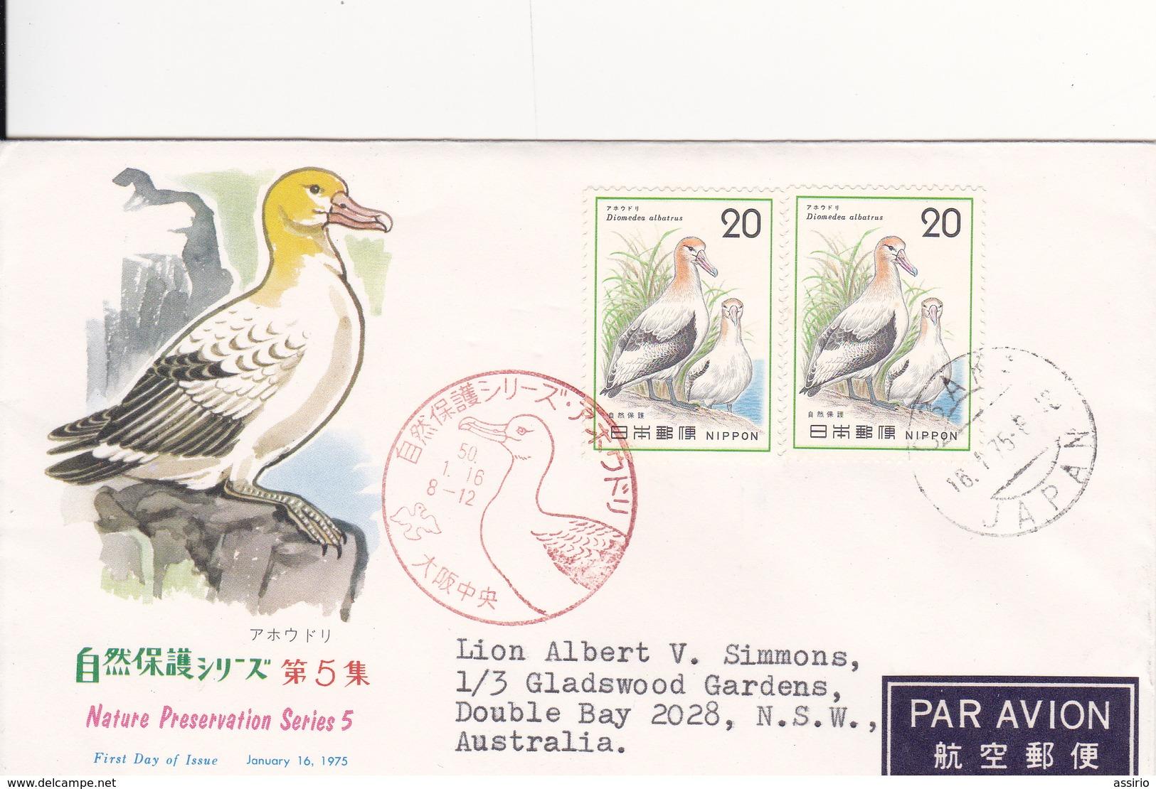 Selos  Temas 2 Fdc  Aves -  China - Sellos