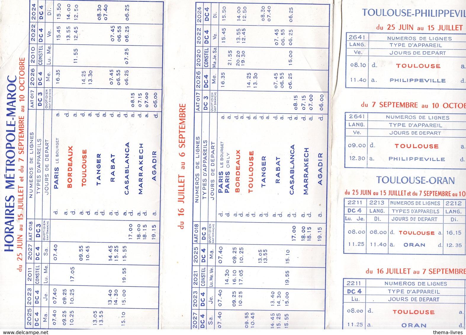 (aviation) AIR FRANCE  Dépliant Horaires 1953 (PPP11808) - Mundo