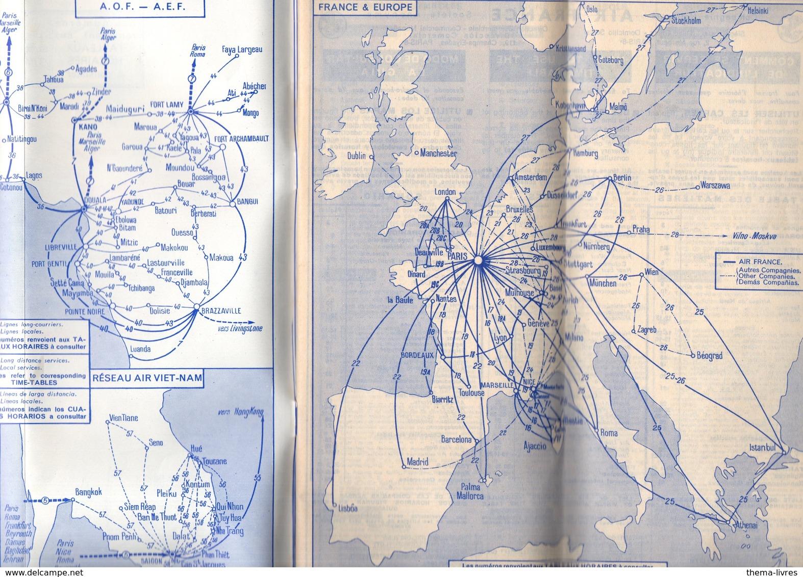 (aviation) AIR FRANCE  Horaire Et Tarif 1956  (PPP11811) - World