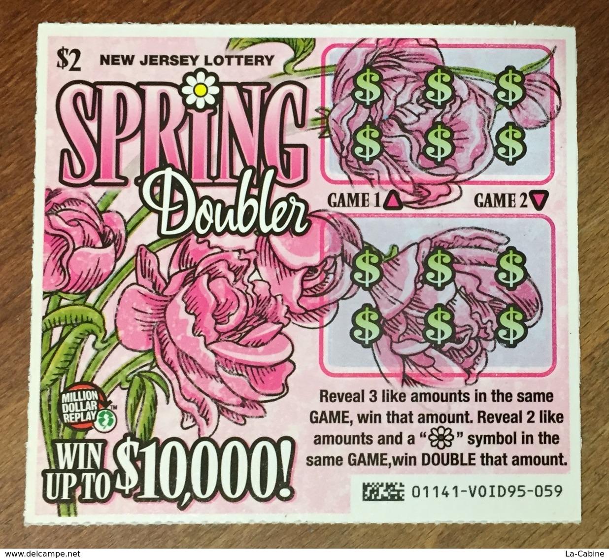 USA NEW JERSEY LOTTERY ROSES FLEURS FLOWERS 1 BILLET SPÉCIMEN VOID TICKET A GRATTER DE LOTERIE NEUF - B. Flower Plants & Flowers