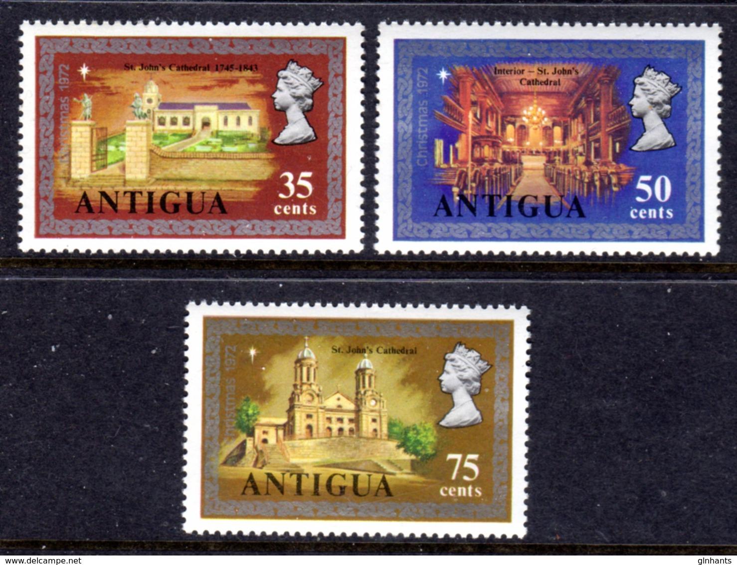 ANTIGUA - 1972 CHRISTMAS SET (3V) FINE MNH ** SG 335-337 - 1960-1981 Ministerial Government