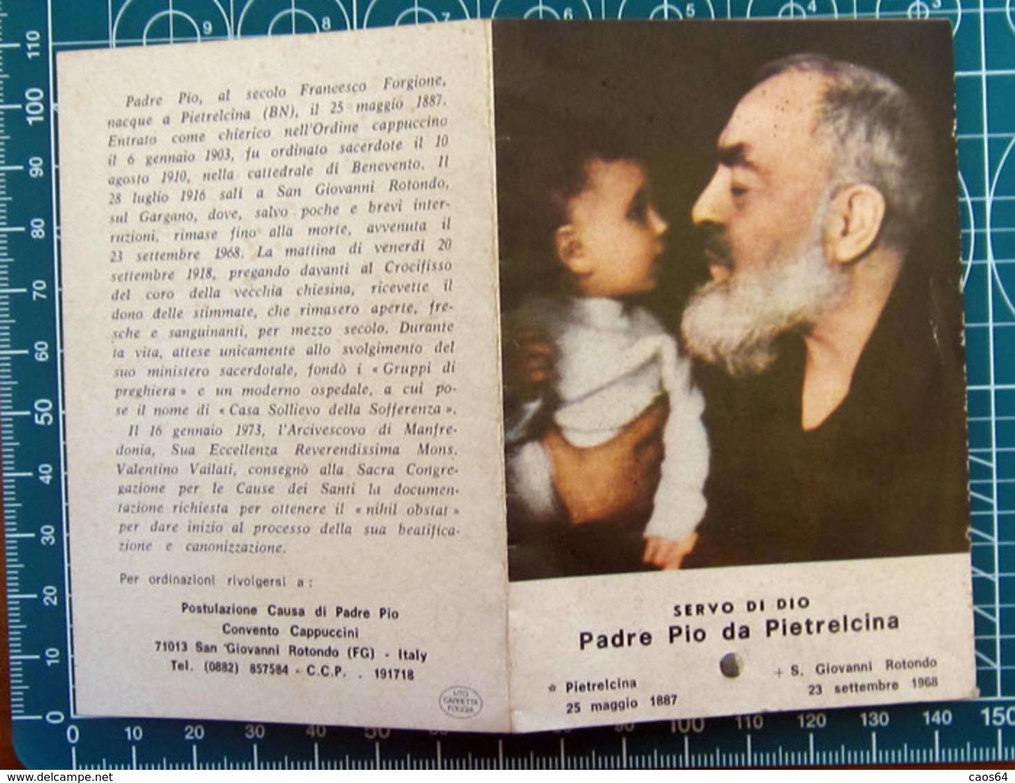 Padre Pio Da Pietrelcina SANTINO Reliquia - Images Religieuses
