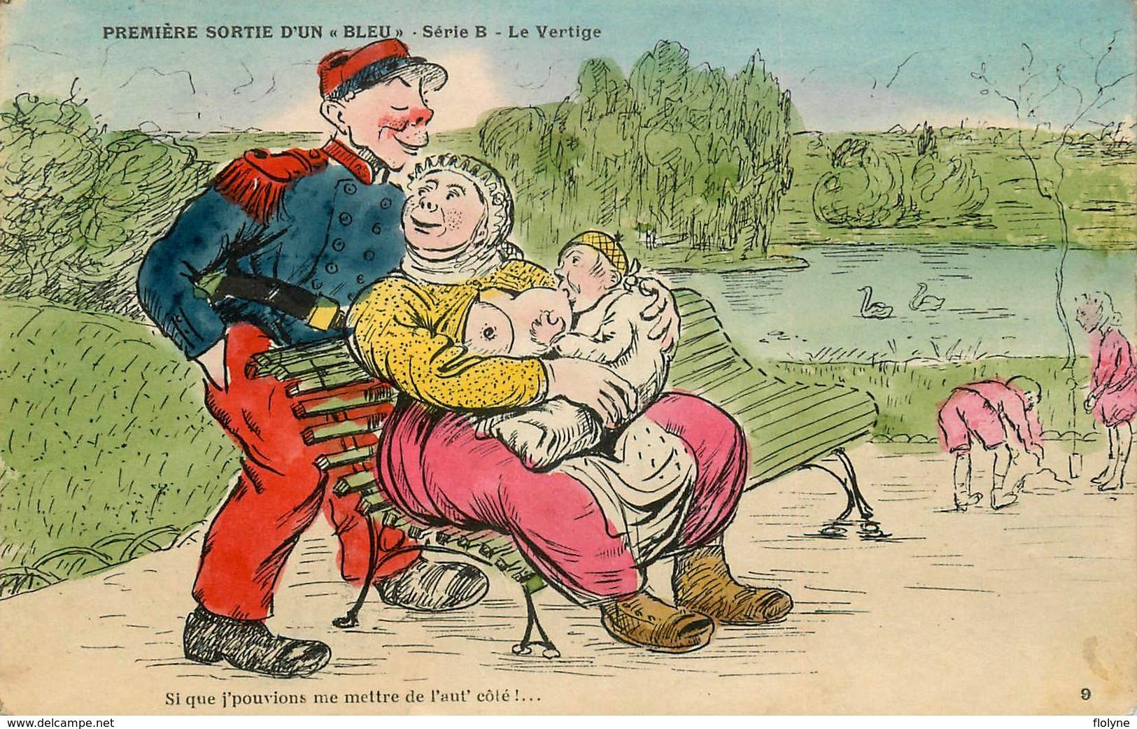 WW1 War Guerre 1914/18 - Illustrateur Genre Xavier Sager - NU CURIOSA Femme Seins Nus Allaitant Bébé Nus - Guerre 1914-18