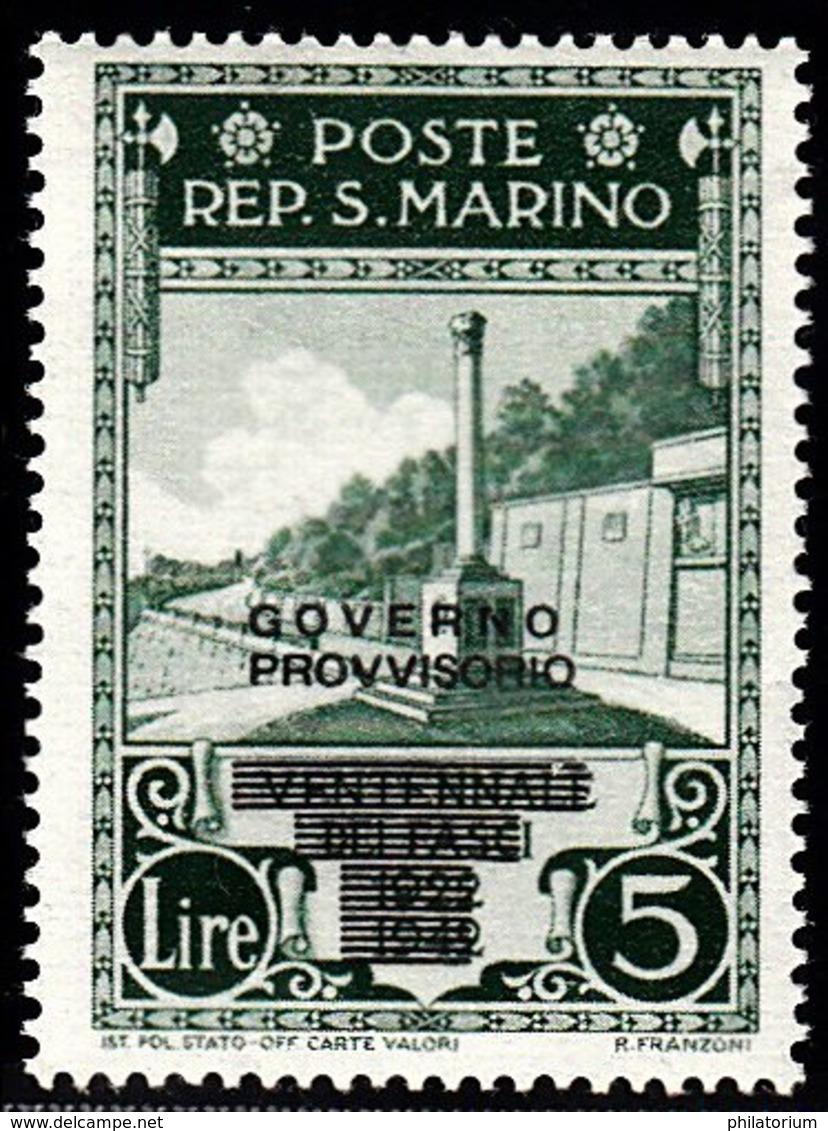 Saint Marin Sant Marino  Neuf Sans Charnière N° Yvert  256  Scott 237 - Nuovi