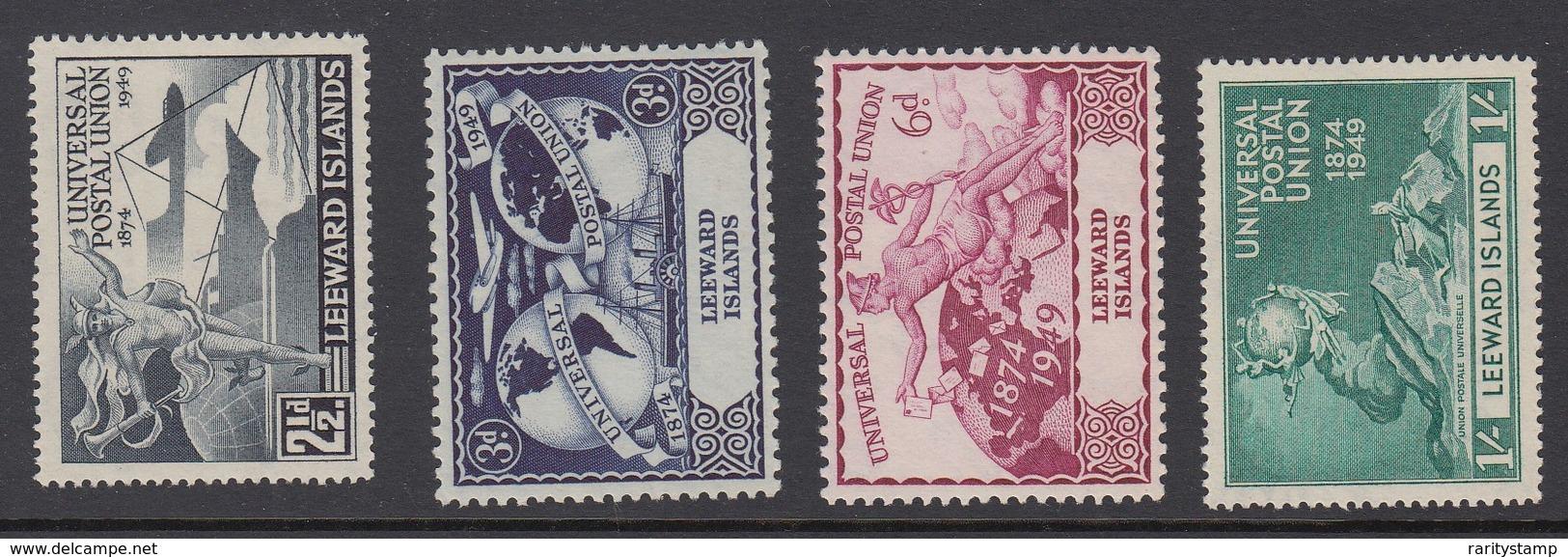 LEEWARD ISLANDS  1949  UPU   SET SG 119/122 MLH - Leeward  Islands
