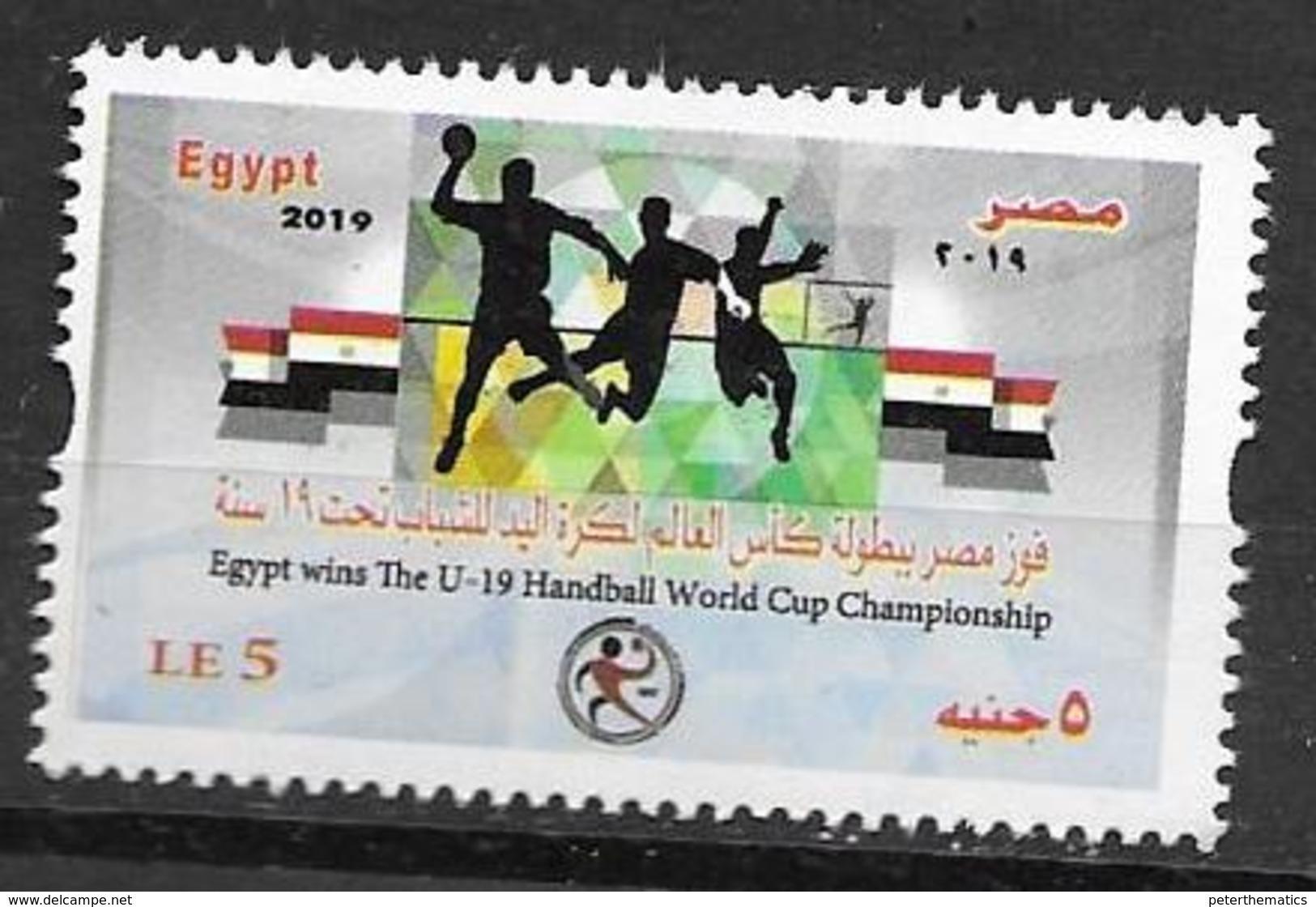 EGYPT, 2019, MNH,SPORTS, HANDBALL, EGYPT WINNERS OF U-19 HANDBALL WORLD CHAMPIONSHIP, 1v - Balonmano