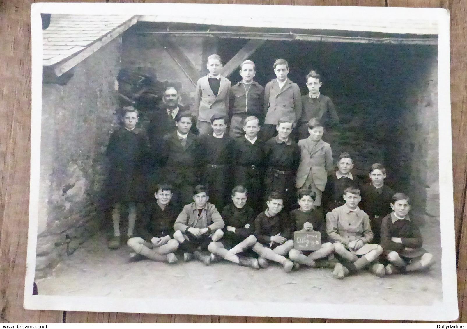 Photo Ancienne De CLASSE ALIGNY 58 Nievre Ecole De Garcons - Other