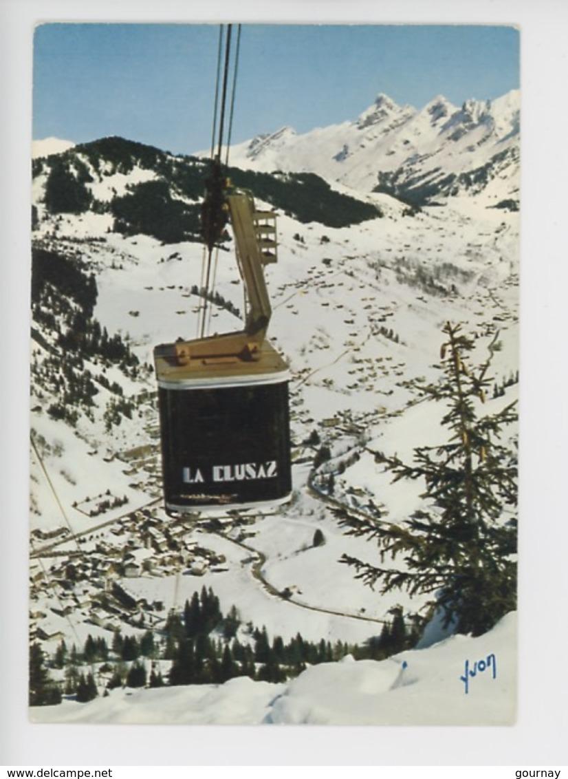 La Clusaz, Téléphérique De Beauregard (cabine) Cp Vierge N°10-14931 Yvon - La Clusaz