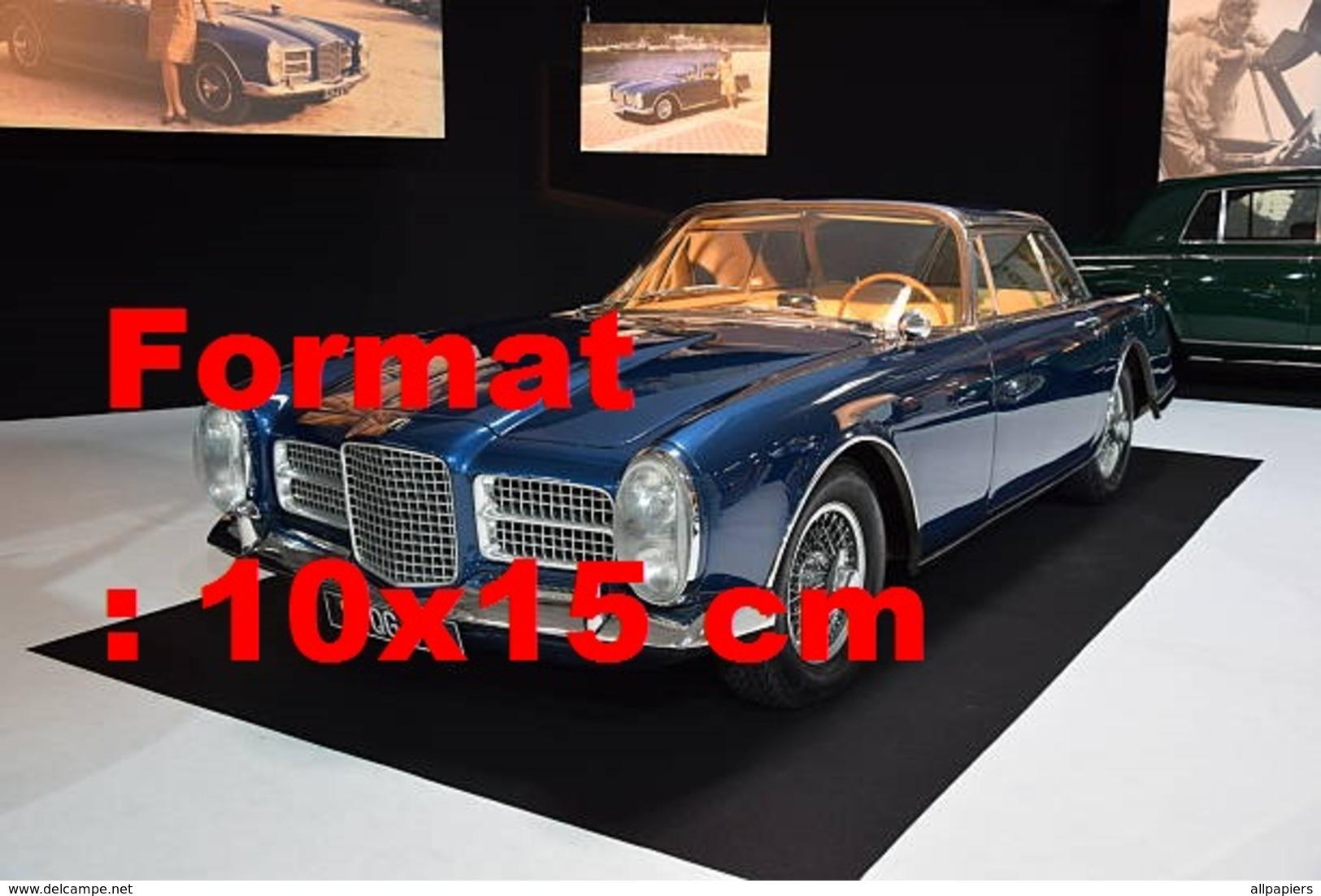 Reproduction D'une Photographie Ancienne De La Facel Vega HK II Coupé Au Salon De L'automobile De Paris - Repro's
