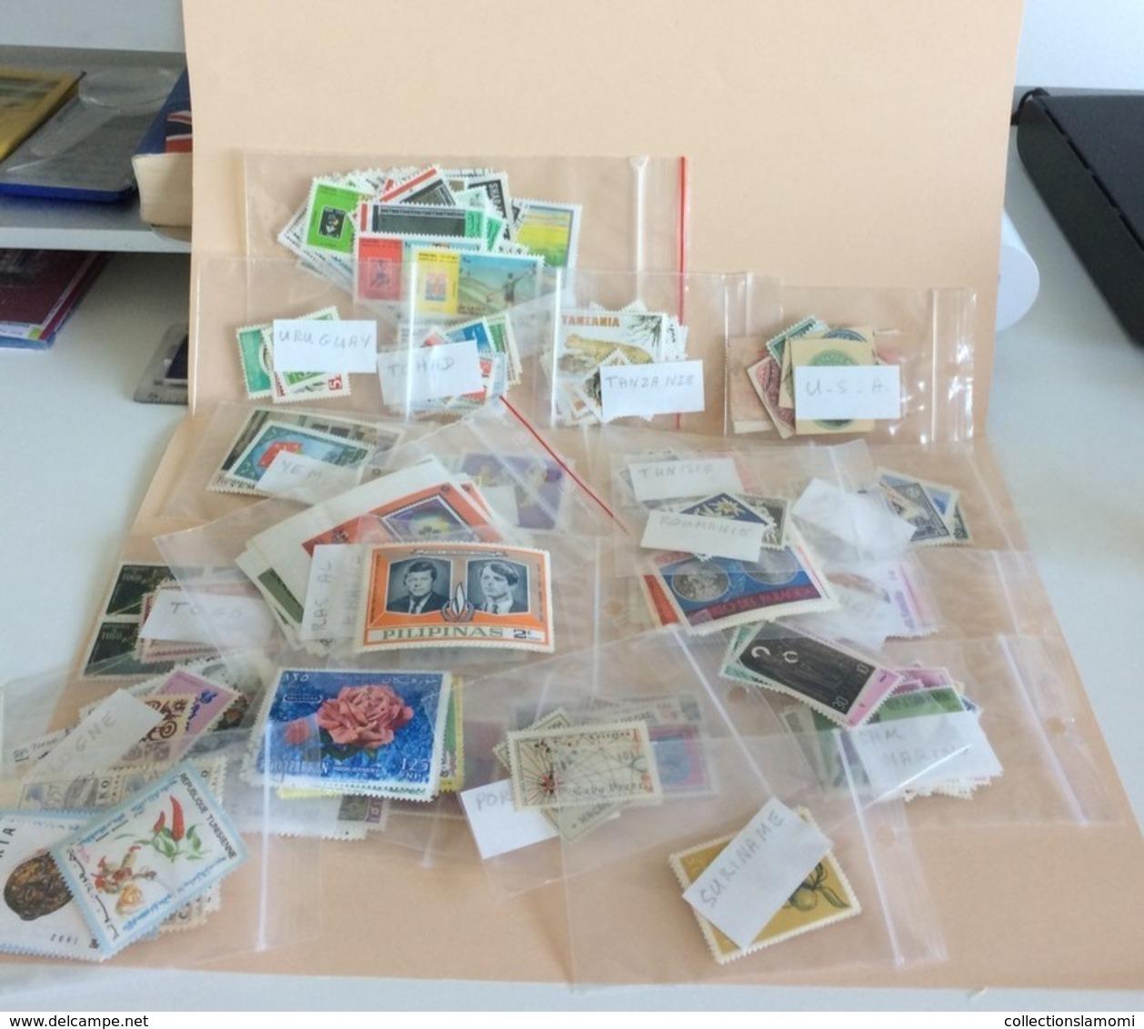 Lot Timbres Neufs, Monde Afrique,Amérique,Asie,Europe,Pays Voir Photos (n°12) - Stamps