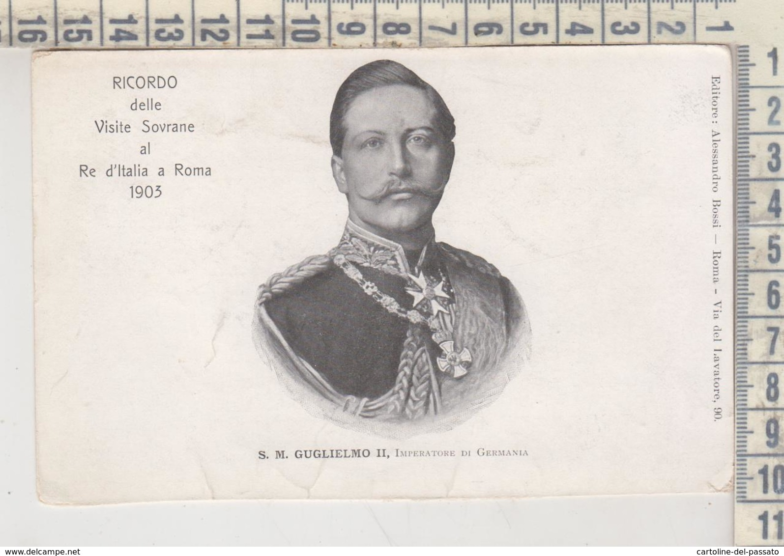 CASE REALI  S. M. GUGLIELMO II  NO VG - Royal Families