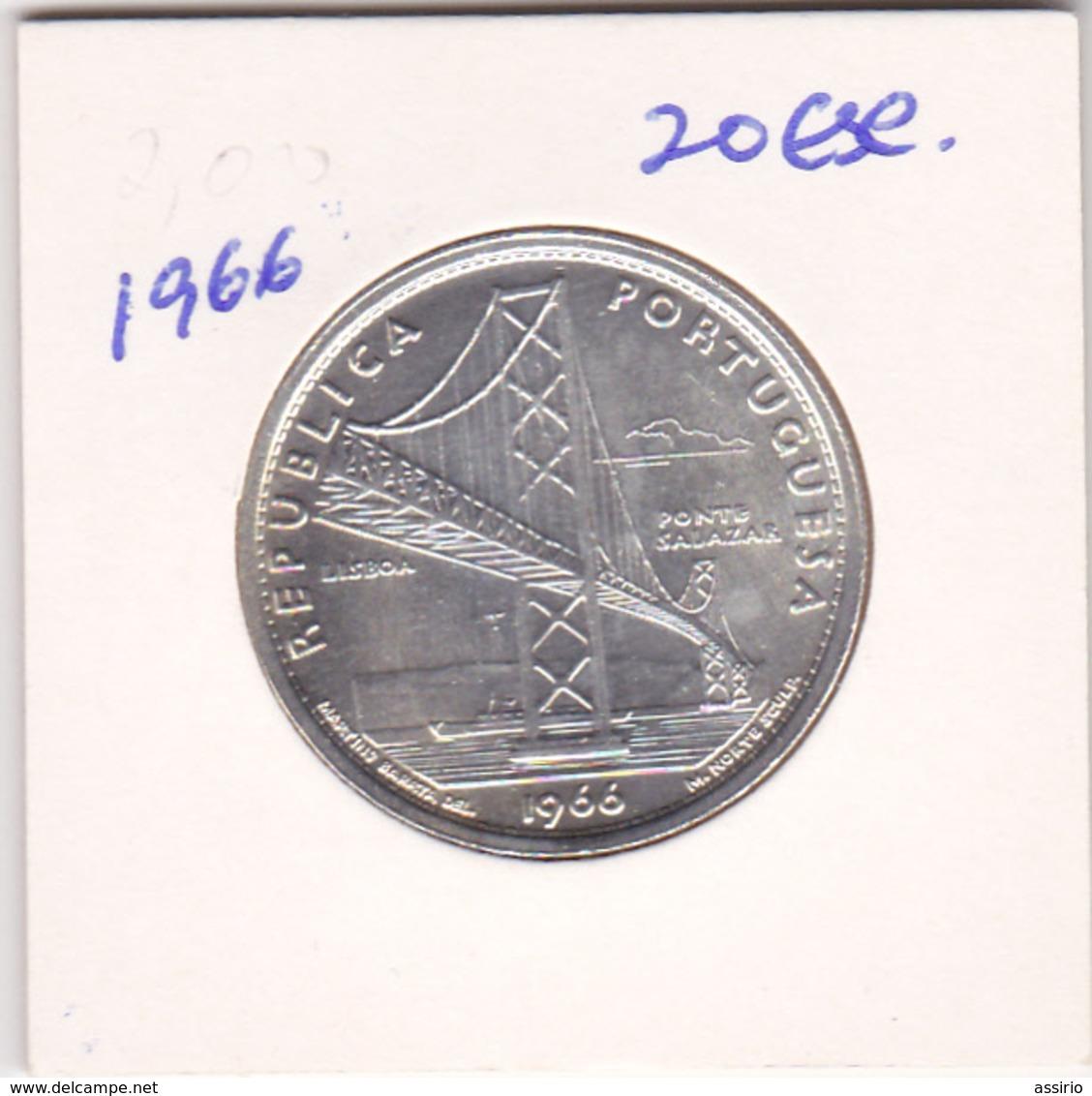 Portugal -Moeda De 20$00 -1966 - Portugal