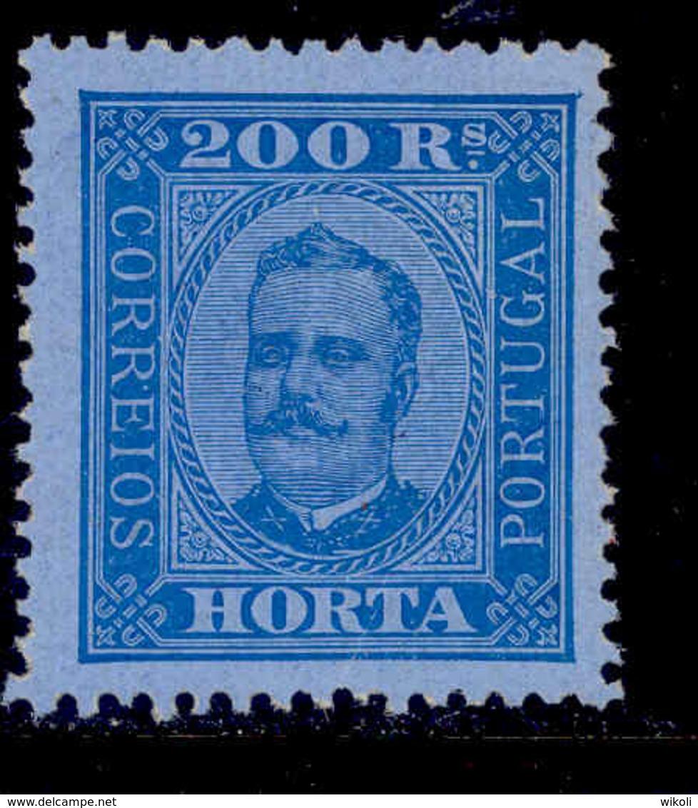 ! ! Horta - 1892 D. Carlos 200 R (Perf. 12 3/4) - Af. 11 - MH - Horta