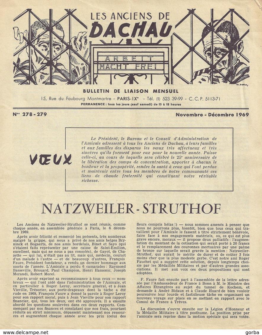 """*Lot De 13 Bulletins """"Les Anciens De Dachau"""" - Histoire"""
