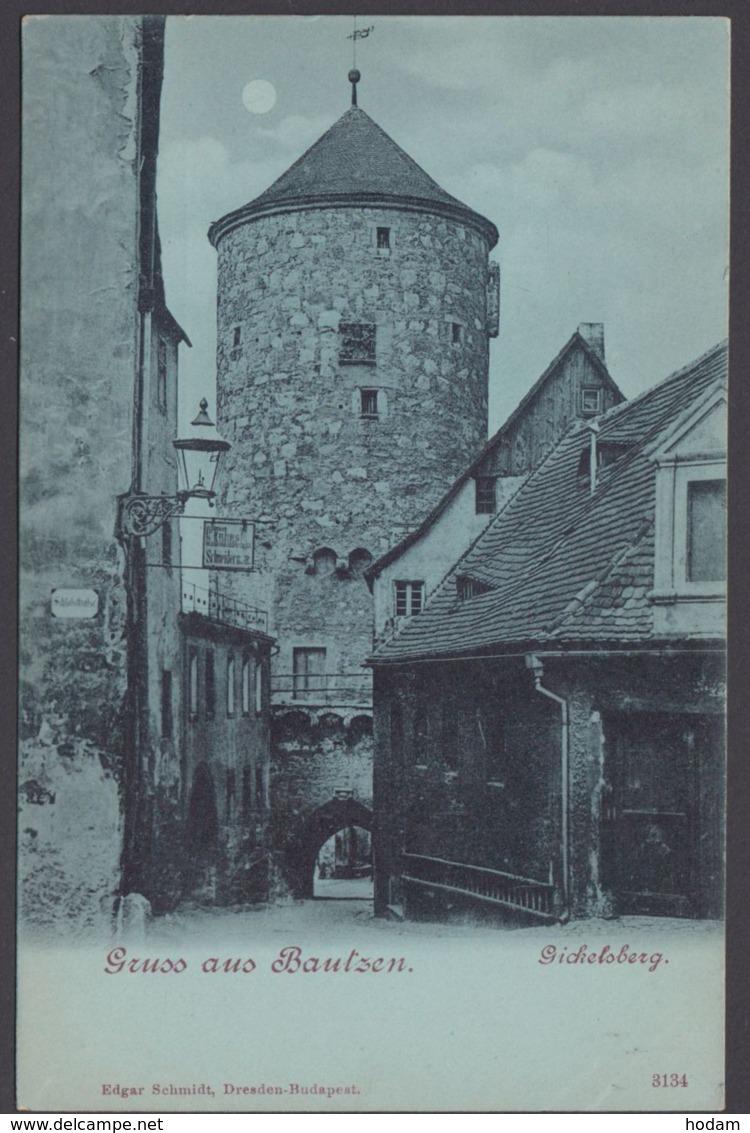 Bautzen, Gickelsberg, Gruß Aus..., Ca. 1900, Mondscheinkarte - Bautzen