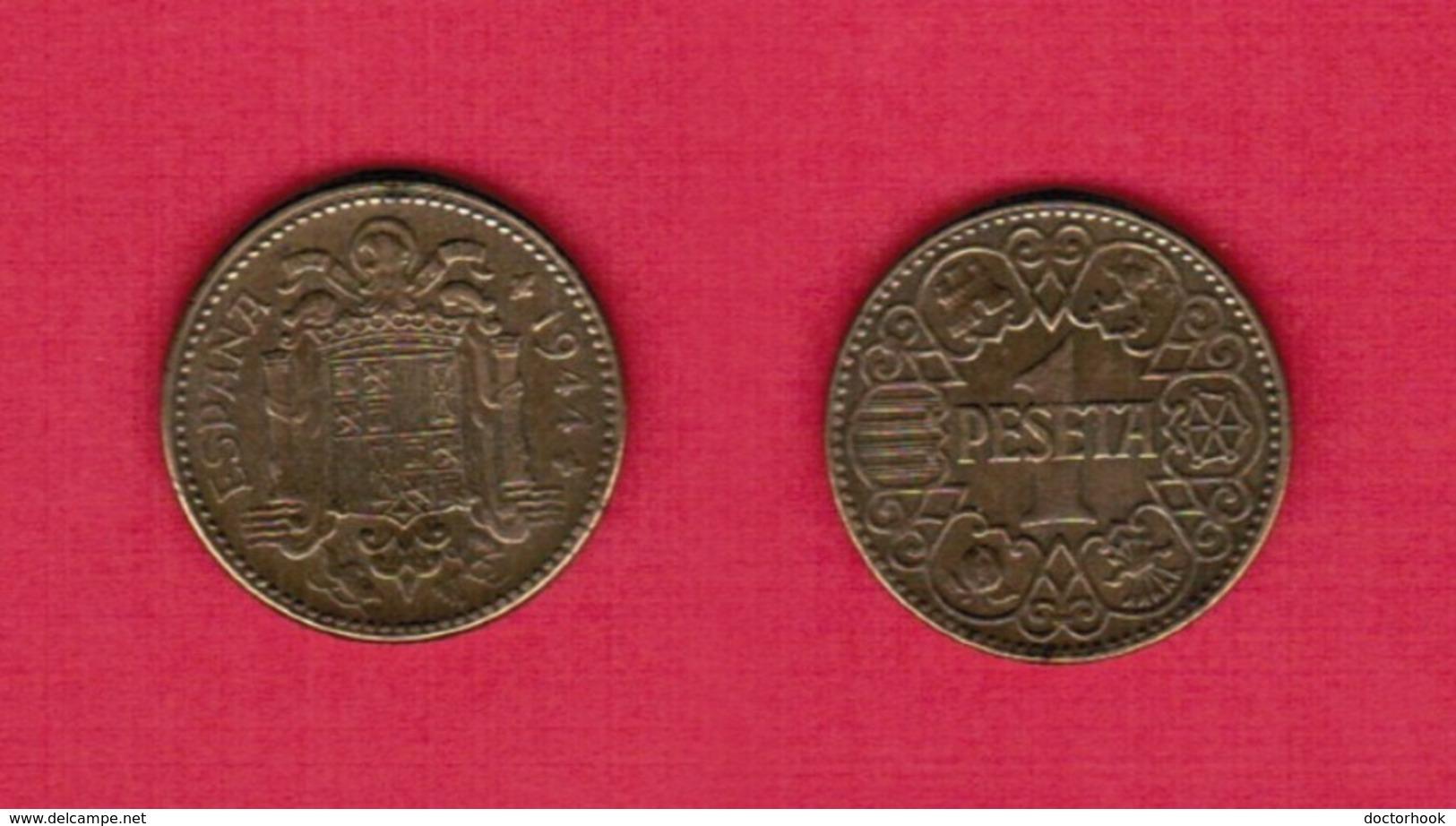 SPAIN  1 PESETA 1944 (KM # 767) #6156 - 1 Peseta