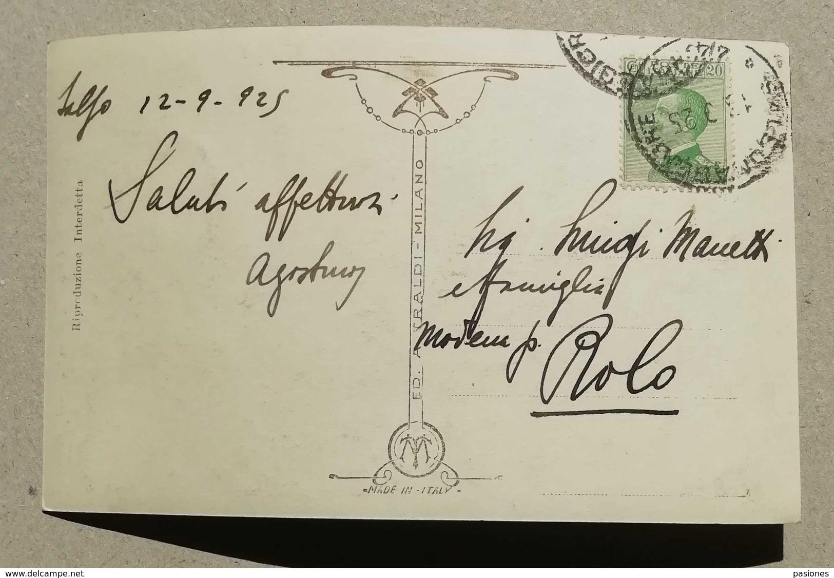 Cartolina Illustrata Salsomaggiore-Monumento Ai Caduti, Per Rolo 1925 - Otras Ciudades