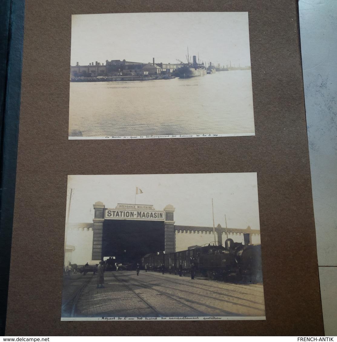 MAGNIFIQUE ET RARE ALBUM PHOTO LA STATION DE DUNKERQUE 1916 MILITARIA METIER - Albums & Collections