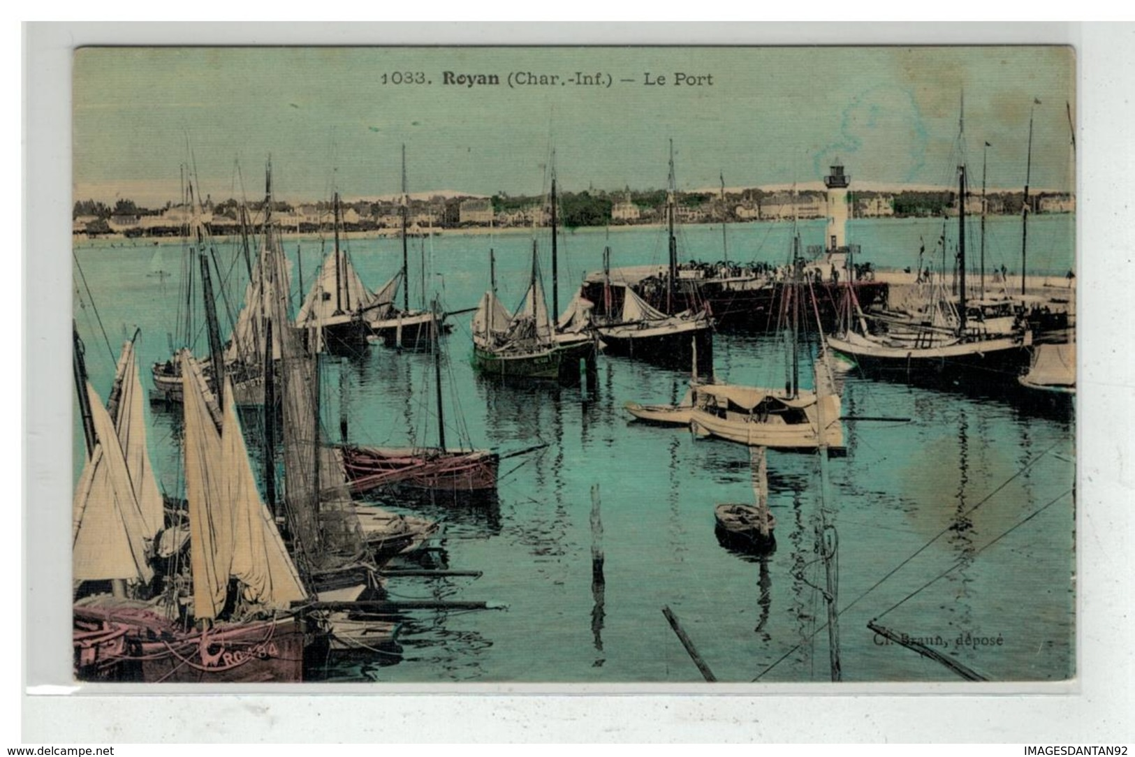 17 ROYAN LE PORT N° 1033 EDIT BRAUN TOILEE - Royan