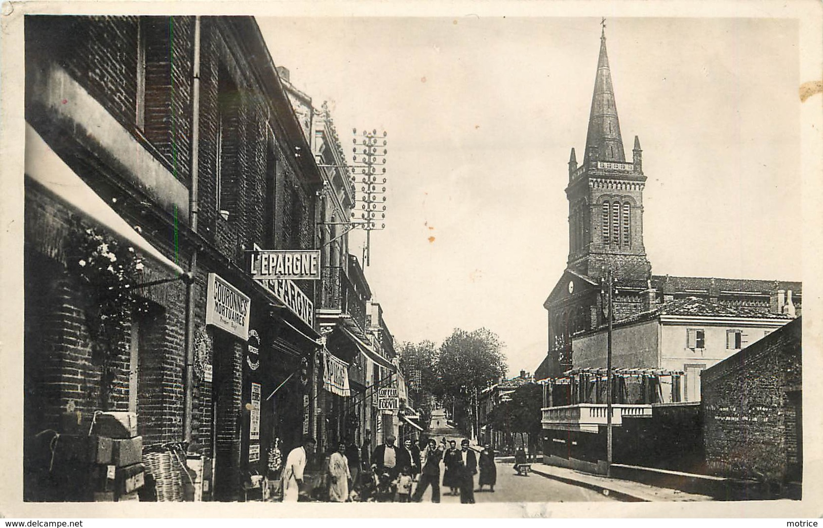 AUTERIVE - Avenue De La Gare Et église De La Madeleine. - Other Municipalities