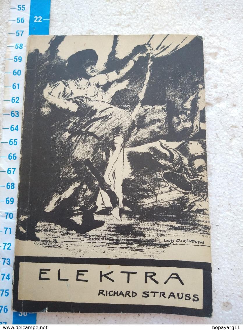 Elektra Richard Strauss Buch Opera Script OLD #10 - Theatre & Scripts