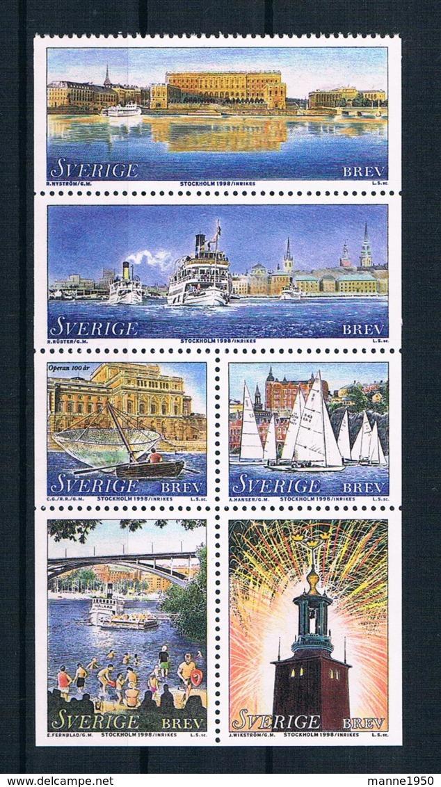 Schweden 1998 Stockholm Mi.Nr. 2050/57 Kpl. Satz ** - Ongebruikt