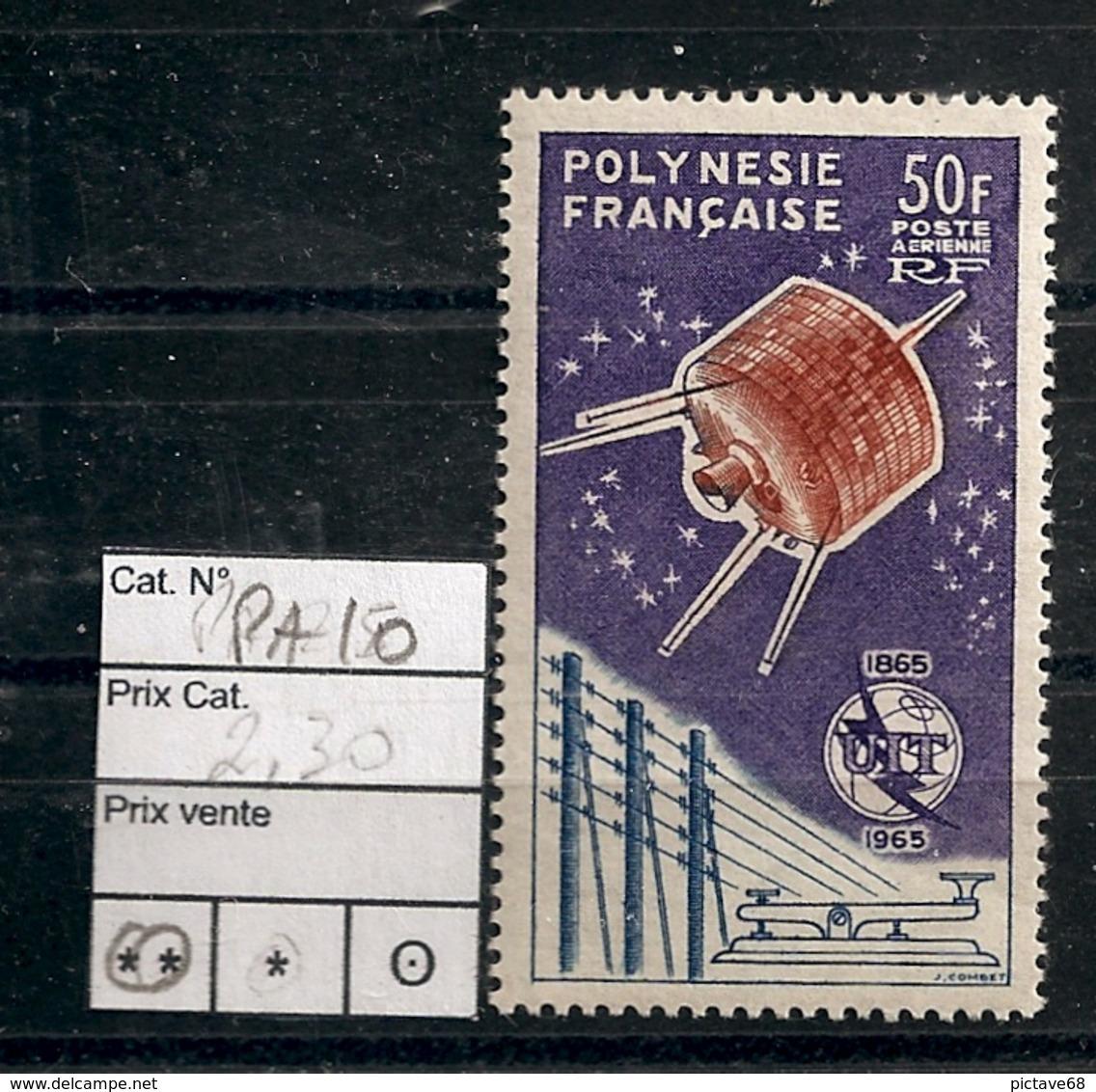 POLYNESIE /  SERIE PA N° 10 NEUF** - Unused Stamps