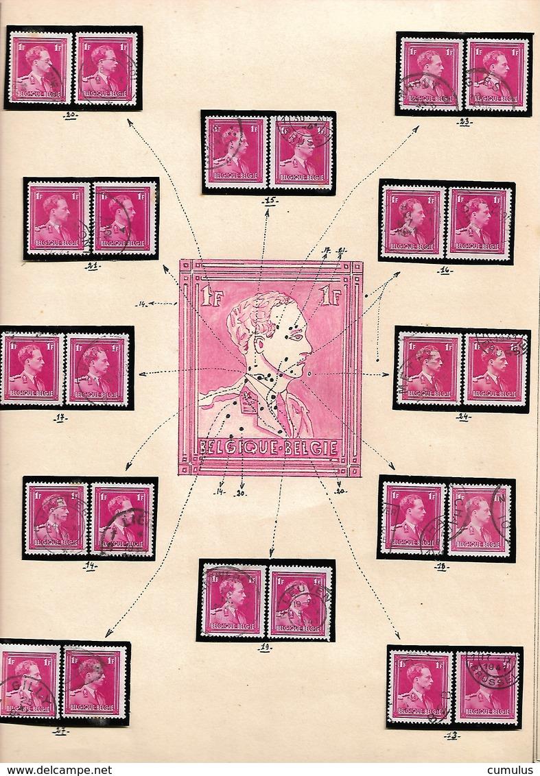 Effigie De S.M. Le Roi Léopold III De Profil à Gauche Type Poortman COB N° 428 Variétés Et Curiosités - Abarten Und Kuriositäten